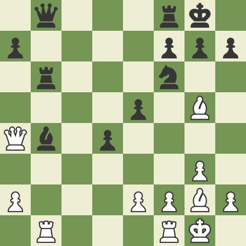 Kasparov - Deep Blue, Game 2 of 1996 Match (middlegame)
