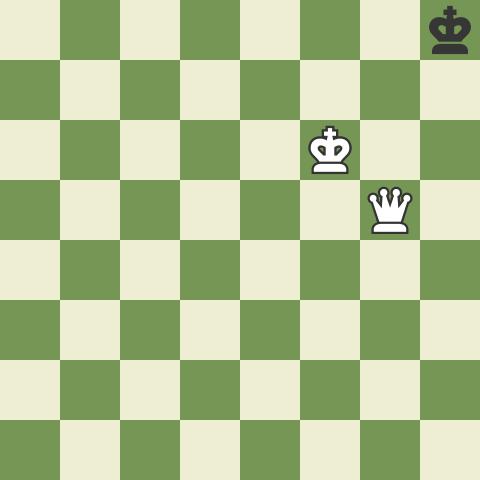 Schachmatt mit der Dame
