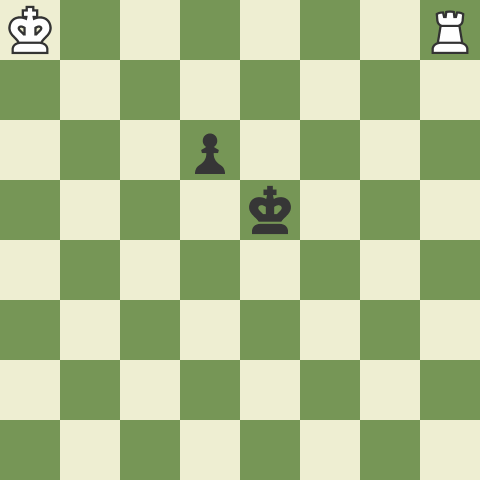 King and Rook versus pawn