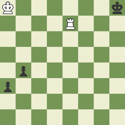 King and Rook vs. King and two connected pawns