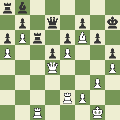 Kasparov - Deep Blue, a variation of game 6 in the 1996 match