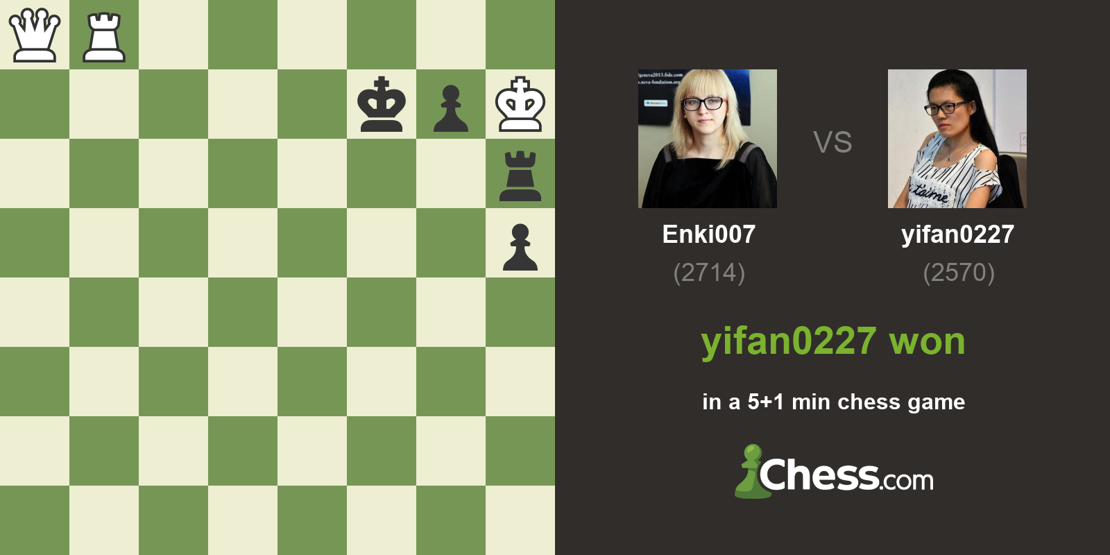 Chess: GM Enki007 vs GM yifan0227